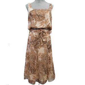 BIANCA NYGARD Two PIece Silk Sleeveless Midi Skirt